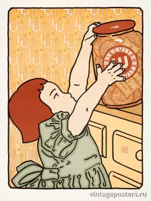 """Винтажный Ретро Постер """"Печенье Мария"""" США 1986 для интерьера купить"""