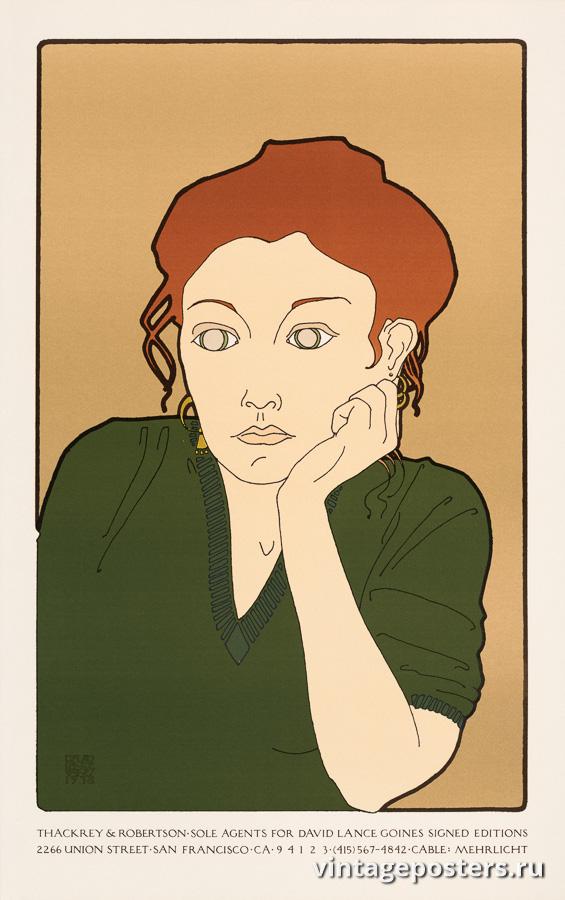 """Винтажный Ретро Постер """"Выставка постеров Дэвида Лэнса Гойнса"""" США 1978 для интерьера купить"""