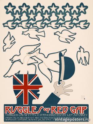 """Винтажный Ретро Постер """"к/ф «Рагглз из Ред-Геп» Лео Маккэри"""" США 1972 для интерьера купить"""