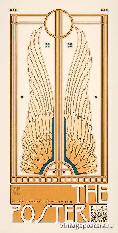 """Винтажный Ретро Постер """"Выставка постеров «The Poster»"""" США 1974 для интерьера купить"""