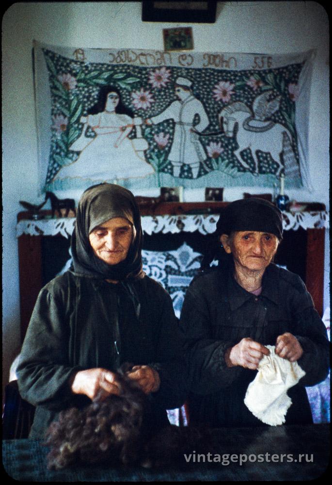 Две пожилые женщины. Грузия. 1956г.