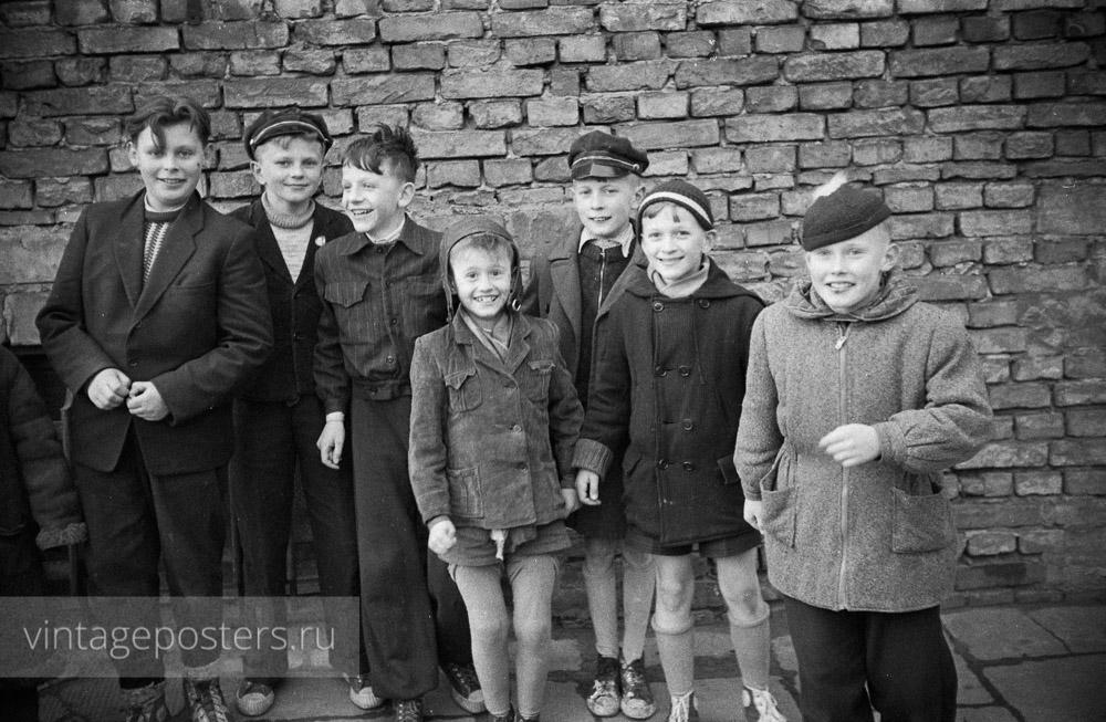 Варшавские дети. Варшава, Польша. 1956г.