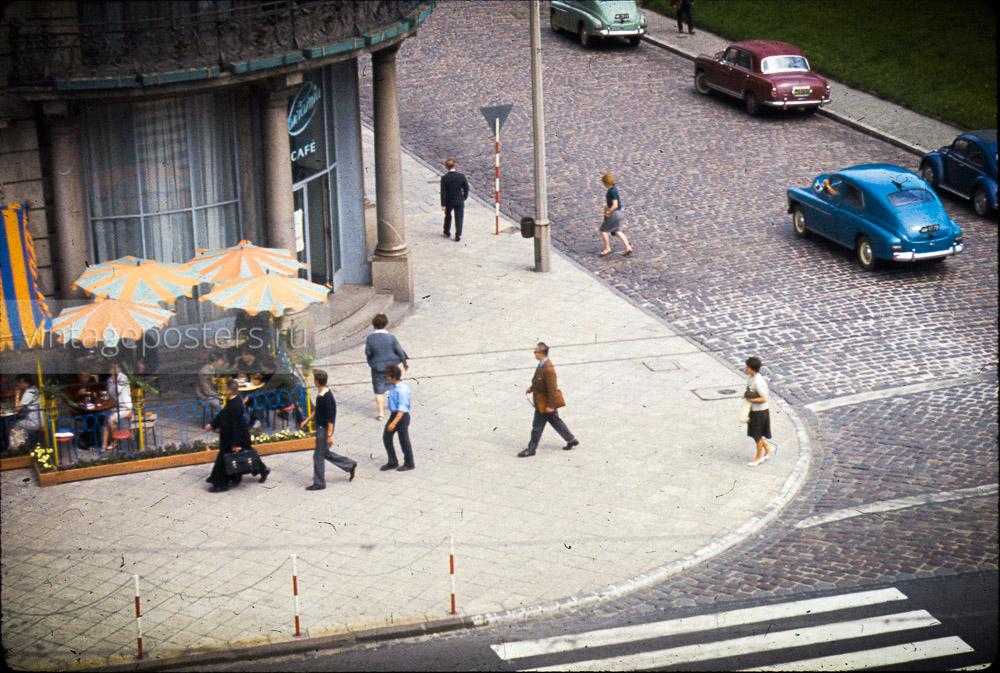 Уличное кафе. Варшава, Польша. 1956г.