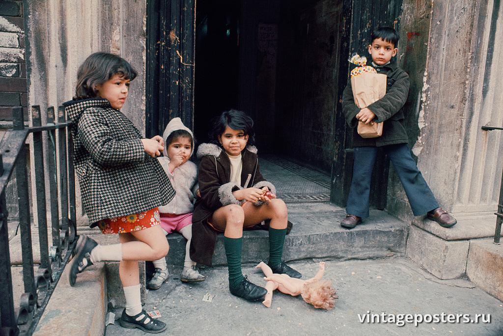 Дети в Южном Бронксе, 1970г.