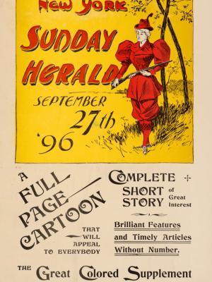 """Винтажный Ретро Постер """"Газета «New York Herald». Сентябрьский выпуск"""" США 1896 для интерьера купить"""