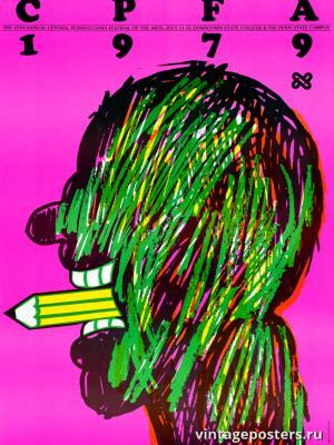 """Винтажный Ретро Постер """"13-й ежегодный фестиваль искусств в Пенсильвании"""" США 1979 для интерьера купить"""