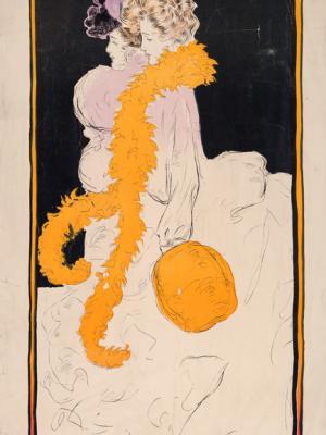 """Винтажный Ретро Постер """"Иллюстрация для журнала «Judge»"""" США 1902 для интерьера купить"""