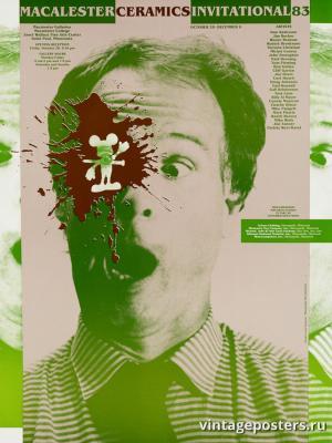 """Винтажный Ретро Постер """"Керамика в колледже Макалестер"""" США 1983 для интерьера купить"""