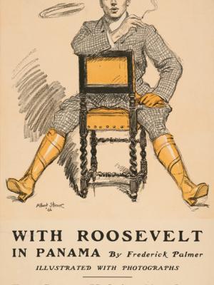 """Винтажный Ретро Постер """"Журнал Collier's «Рузвельт в Панаме»"""" США 1906 для интерьера купить"""