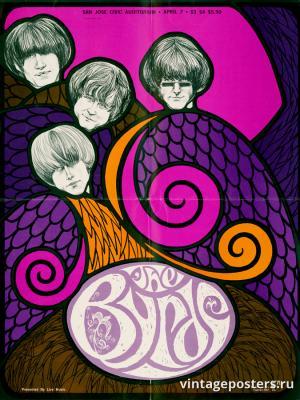 """Винтажный Ретро Постер """"Рок-группа «The Byrds»"""" США 1967 для интерьера купить"""