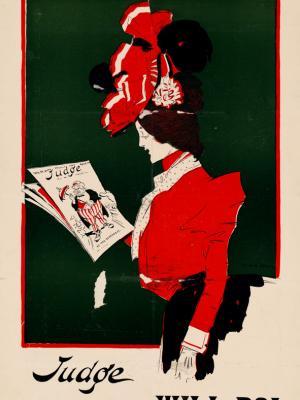 """Винтажный Ретро Постер """"Журнал «Judge» — Возьми номер!"""" США 1900 для интерьера купить"""
