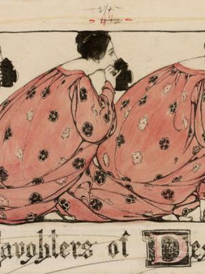 """Винтажный Ретро Постер """"Дочери отчаяния"""" США 1903 для интерьера купить"""