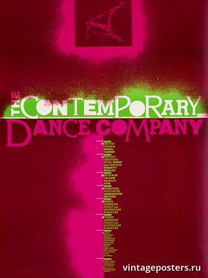 """Винтажный Ретро Постер """"Современная танцевальная компания"""" США 1980 для интерьера купить"""