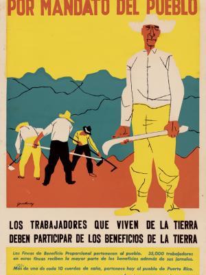 """Винтажный Ретро Постер """"Коллективные фермы"""" Пуэрто-Рико 1947 для интерьера купить"""