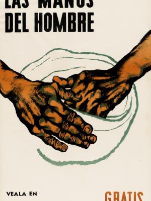 """Винтажный Ретро Постер """"к/ф «Руки человека»"""" Пуэрто-Рико 1952 для интерьера купить"""