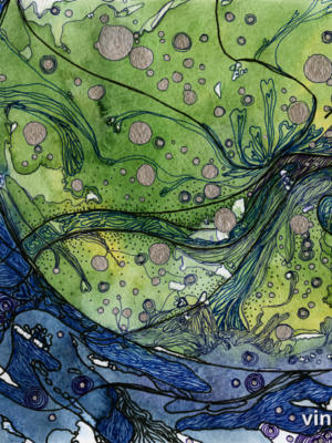 """Винтажный Ретро Постер """"Дом на зеленой планете"""" Россия 2015 для интерьера купить"""