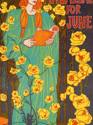 """Винтажный Ретро Постер """"Журнал «The Century». Июньский номер"""" США 1896 для интерьера купить"""