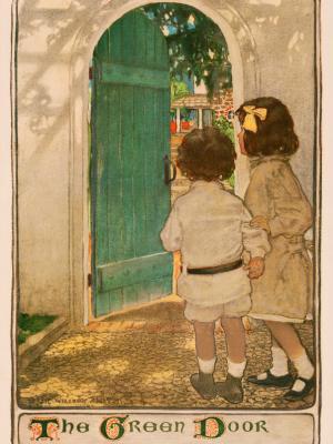 """Винтажный Ретро Постер """"О. Генри «Зелёная дверь»"""" США 1904 для интерьера купить"""