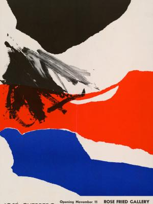 """Винтажный Ретро Постер """"Выставка художника Хосе Герреро"""" США 1963 для интерьера купить"""