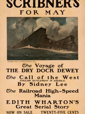"""Винтажный Ретро Постер """"Журнал «Scribner's». Майский номер"""" США 1907 для интерьера купить"""