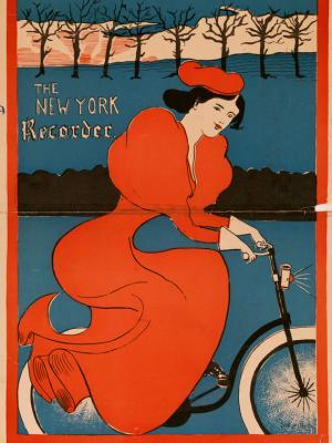 """Винтажный Ретро Постер """"Журнал «The New York recorder»"""" США 1895 для интерьера купить"""