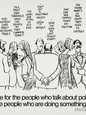 """Винтажный Ретро Постер """"Пришло время людям, которые говорят о загрязнении, присоединиться к тем, кто что-то с этим делает."""" США 1960 для интерьера купить"""