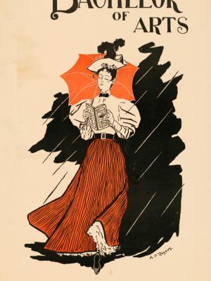 """Винтажный Ретро Постер """"Журнал «Бакалавр искусств», Пасхальный номер, апрель"""" США 1896 для интерьера купить"""