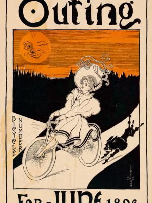 """Винтажный Ретро Постер """"Журнал «Outing». Июньский выпуск"""" США 1896 для интерьера купить"""
