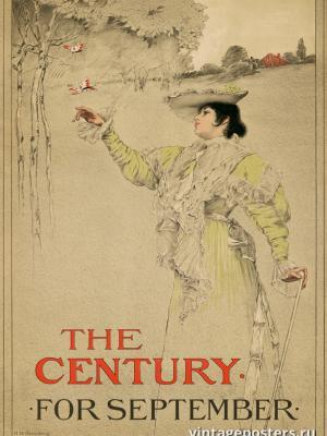 """Винтажный Ретро Постер """"Журнал «Century». Сентябрь"""" США 1896 для интерьера купить"""