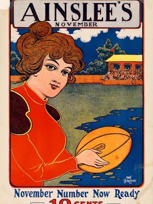 """Винтажный Ретро Постер """"Журнал «The Ainslee's». Ноябрь"""" США 1899 для интерьера купить"""