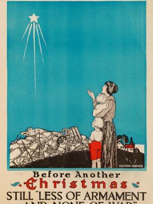 """Винтажный Ретро Постер """"Мир во всем мире. Перед Рождеством без оружия и войны"""" США 1910 для интерьера купить"""