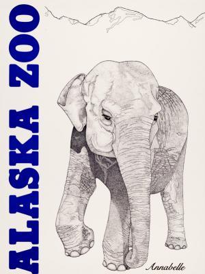 """Винтажный Ретро Постер """"Зоопарк Аляски. Слониха Аннабель"""" США 1984 для интерьера купить"""