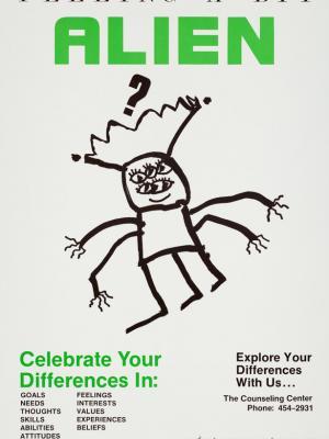"""Винтажный Ретро Постер """"Как не чувствовать себя чужим в этом мире"""" США 1983 для интерьера купить"""