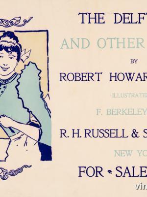 """Винтажный Ретро Постер """"«Дельфтская кошка и другие рассказы» Роберта Рассела"""" США 1896 для интерьера купить"""