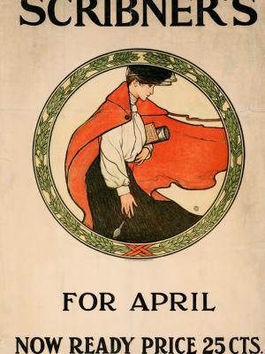 """Винтажный Ретро Постер """"Журнал «Scribner's». Апрельский номер"""" США 1903 для интерьера купить"""