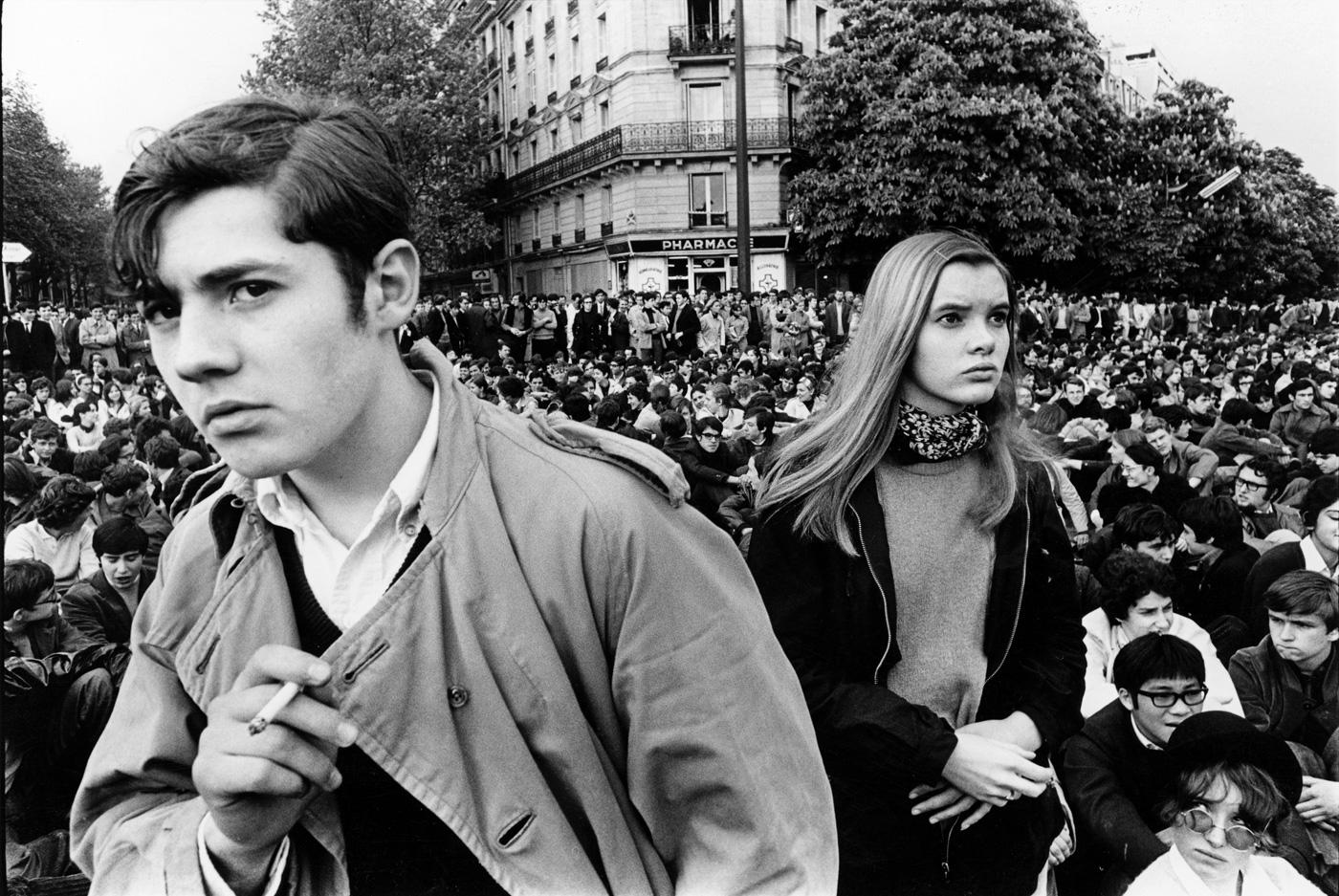 Студенческая демонстрация в Париже, 1968 год