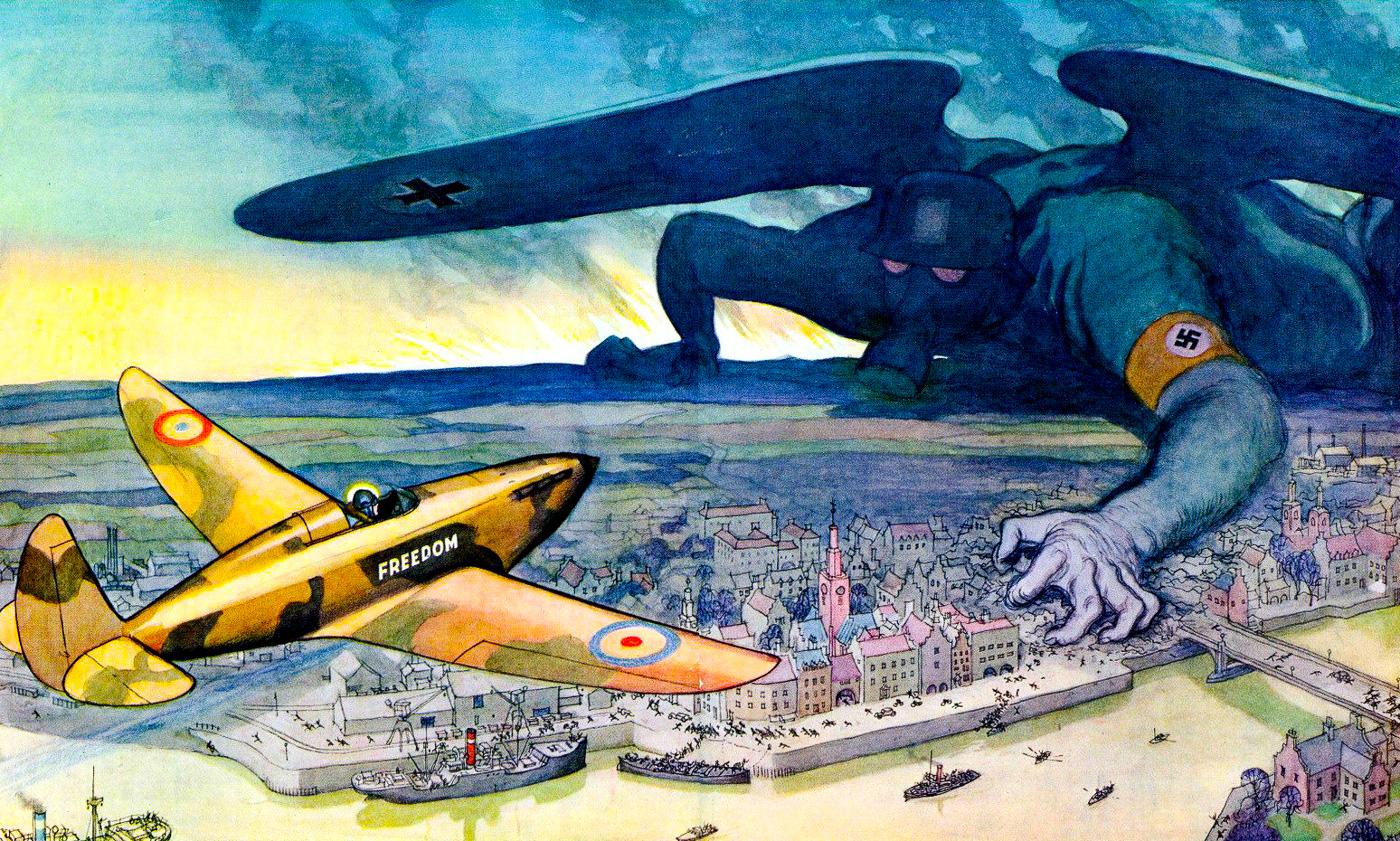 Британский антифашистский плакат, 1940 год