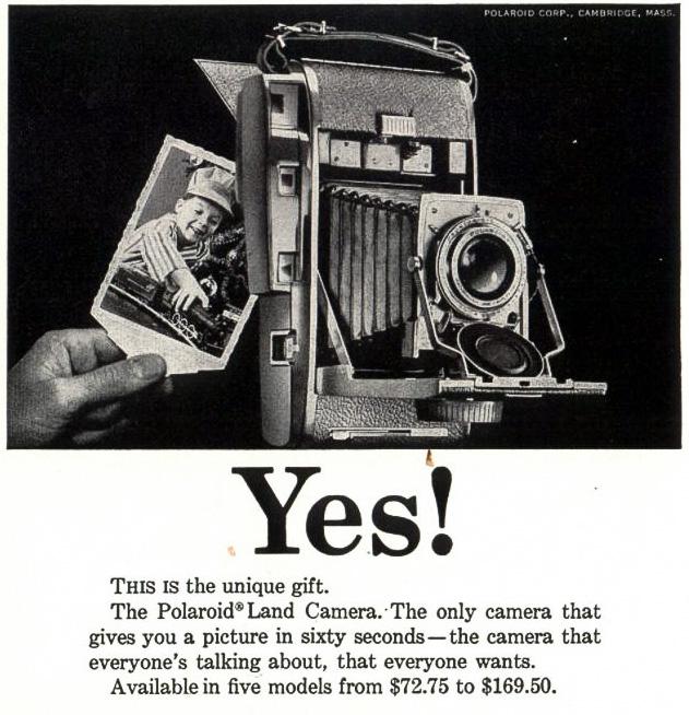 """Фотокамера Polaroid Land"", США, 1957 год"