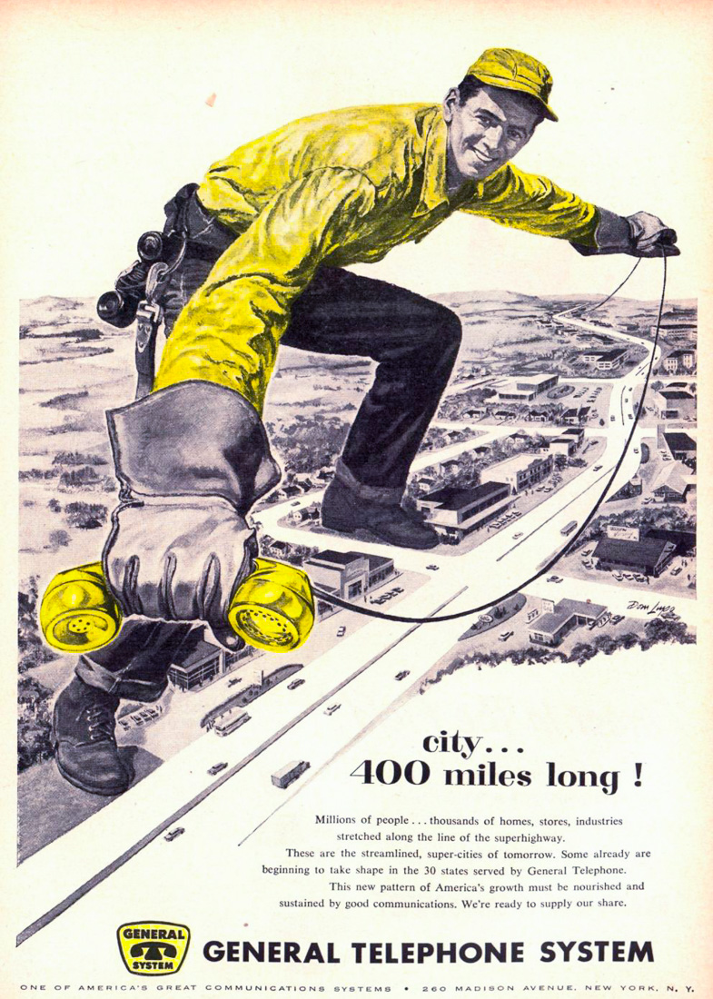 """""""Город размером в 400 миль"""", США, 1957 год"""