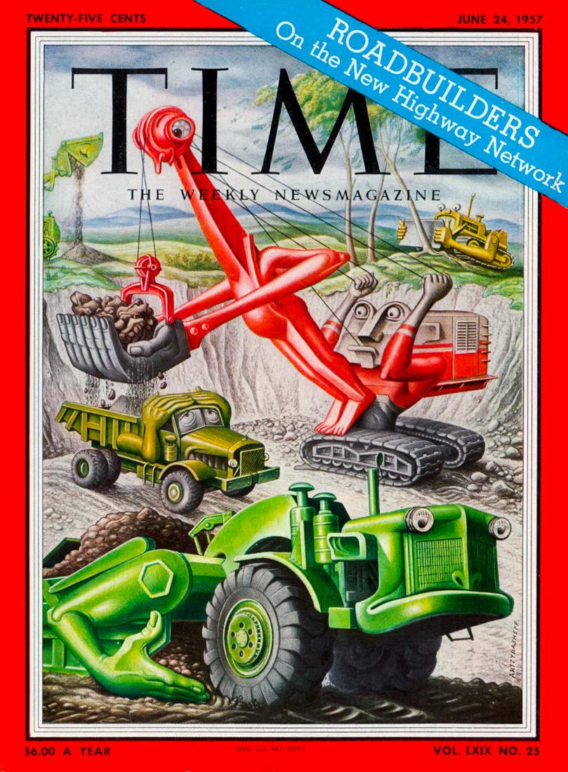 """Обложка журнала """"Тайм"""", США, выпуск от 24 июня 1957 года"""