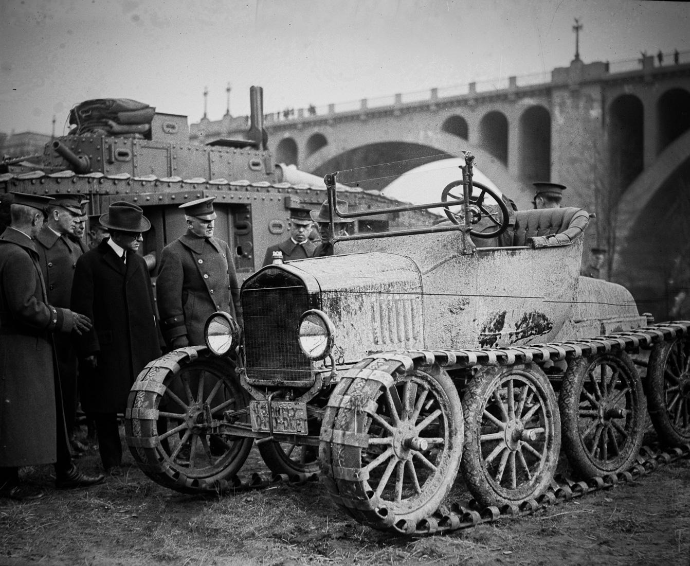 """Военный вездеход на базе """"Форд Т"""", США, 1921 год"""