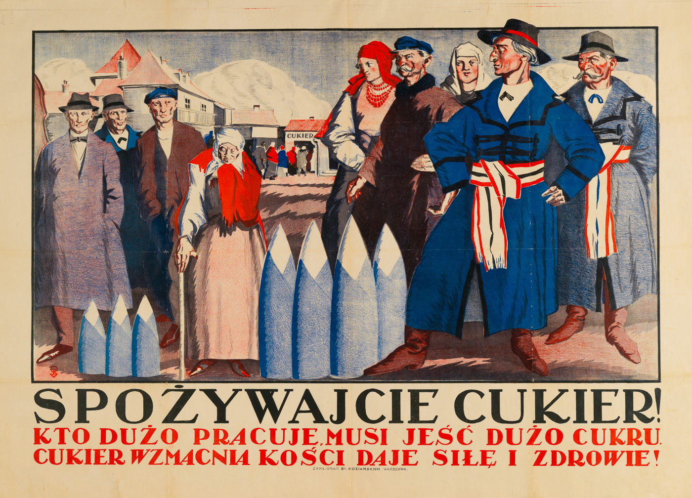 """Ешь сахар!"", Польша, 1930-е"
