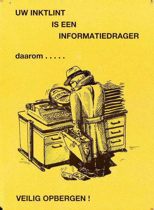 """""""На ленте твоей пишущей машинки есть информация..."""", Нидерланды, 1980-х гг"""