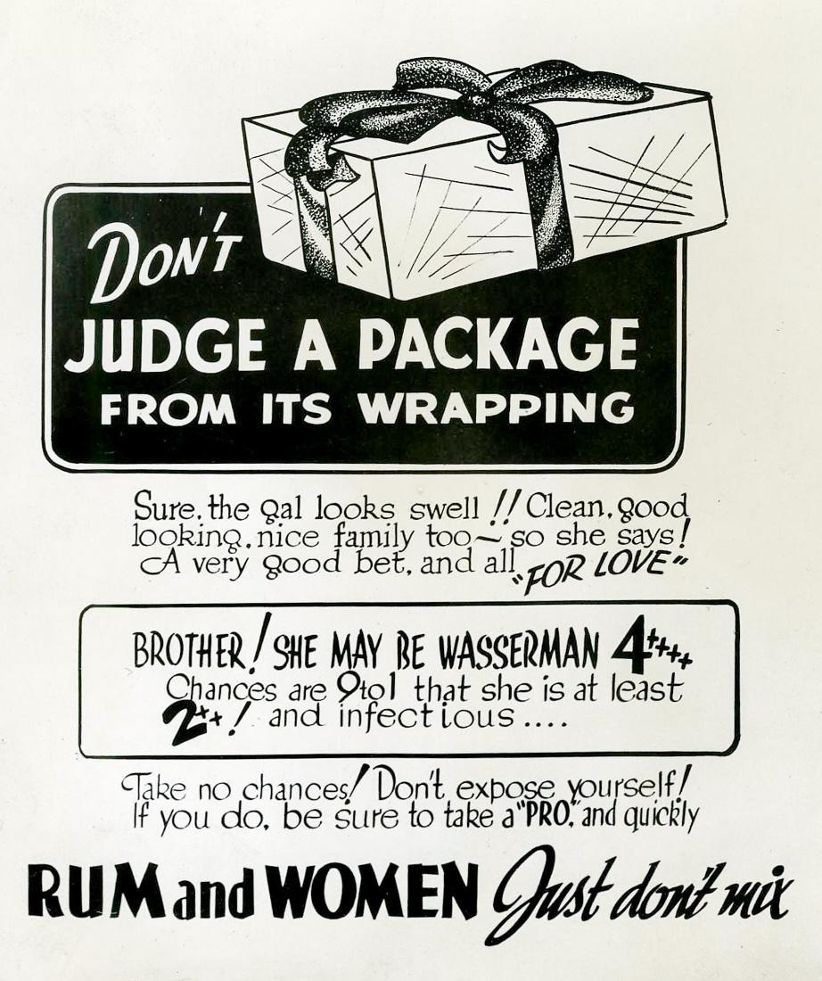 """""""Женщины и ром - просто не смешивай"""", США, 1940-е гг"""
