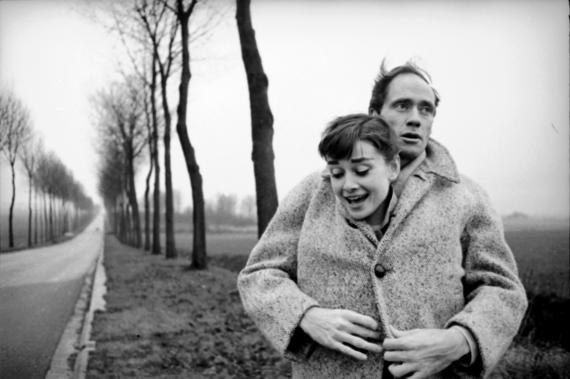 Мел Феррер и Одри Хепберн, Франция, 1956 год