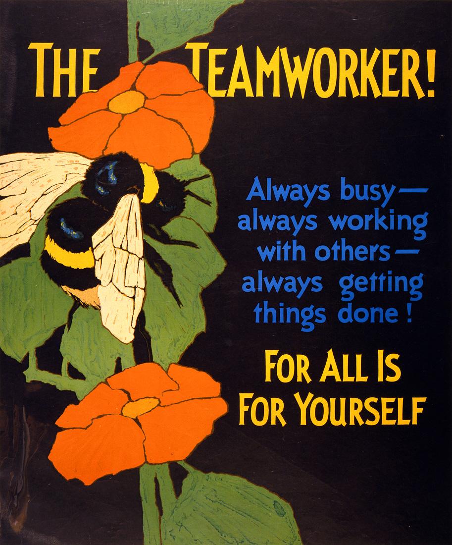 """Постер """"Командный игрок! Для всех это для себя"""" США 1929"""