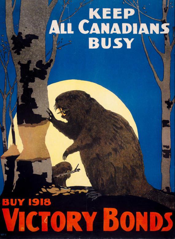 """""""Держи всех канадцев при деле"""", Канада, 1918 год"""