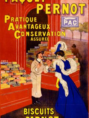 """Купить для интерьера на стену Постер """"Печенье Biscuits Pernot"""" Франция 1905"""