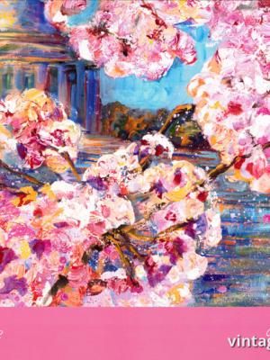 """Купить для интерьера на стену Постер """"Национальный фестиваль цветения сакуры"""" США 2018"""