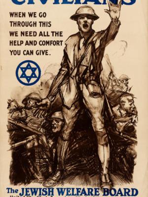 """Винтажный Ретро Постер """"Гражданские лица нам нужна вся помощь"""" США 1918 для интерьера купить"""